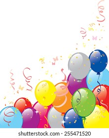 Vector illustration of balloons background.  Objects are layered.