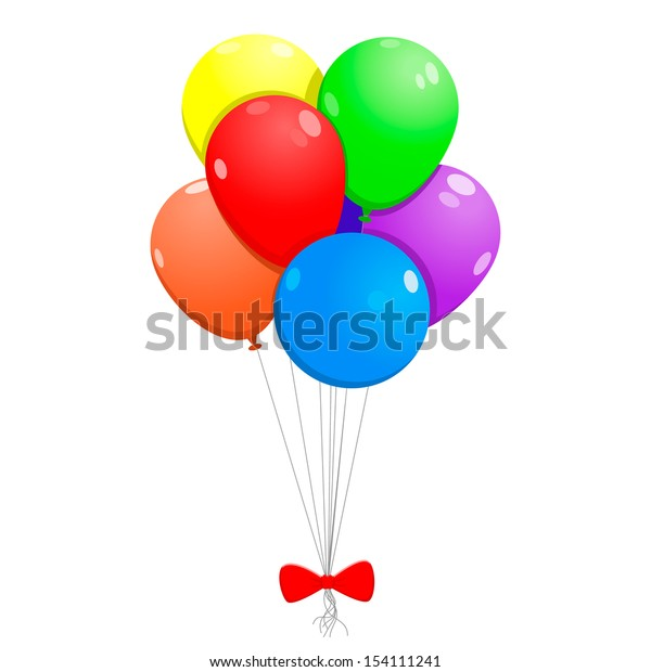 Vector illustration of balloons with bow