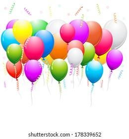 Vector illustration of balloons decoration.