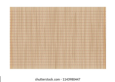 Vector illustration. Bamboo mat. Top view.