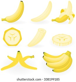 Vector illustration of banana.
