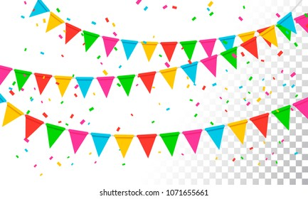 Vector Illustration Banderol Party Celebration Background