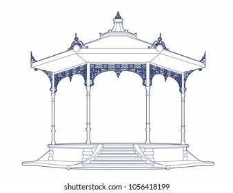 Vector illustration of a bandstand, EPS 10 file
