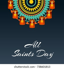 Vector illustration of a Banner for All Saints Day.