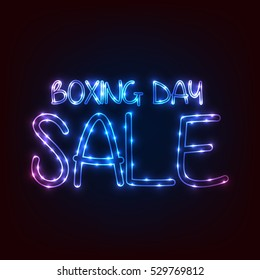 Vector illustration of a Banner For Boxing Day Sale.