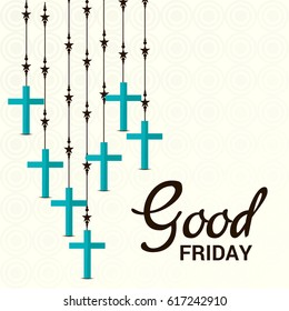 Vector illustration of a Banner for Good Friday with Cross.
