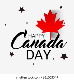 Vector illustration of a Banner for Happy Canada Day.
