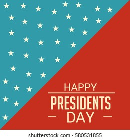Vector illustration of a Banner For Happy Presidents Day.