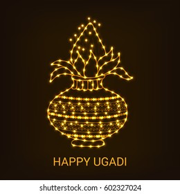 Vector illustration of a Banner for Happy Ugadi.