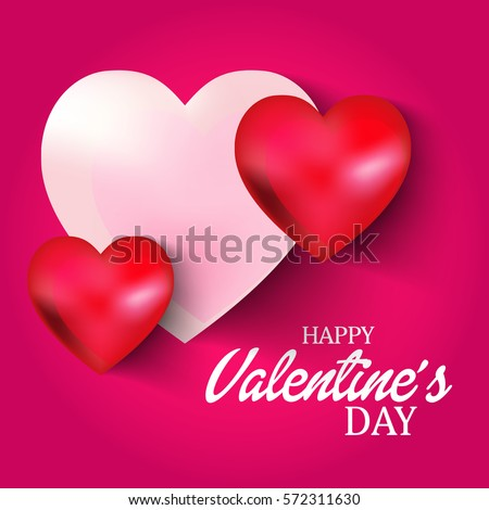 Vector Illustration Banner Happy Valentines Day Stock Vector