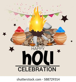 Vector illustration of a Banner for Indian Festival of Colours, Happy Holi celebration.