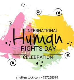 Vector illustration of a Banner for International Human Rights Day.