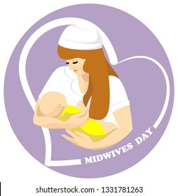 Vector illustration of a Banner for International Midwives Day.Happy nurse day template. May,  the 12th   is an international holiday