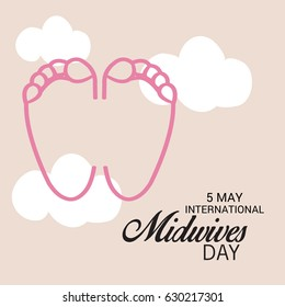 Vector illustration of a Banner for International Midwives Day.
