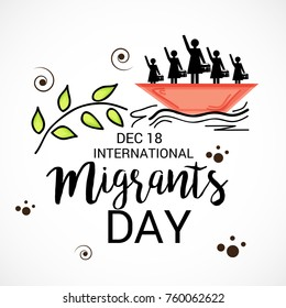 Vector illustration of a Banner for International Migrants Day.