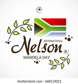 Vector illustration of a Banner for International Nelson Mandela Day.