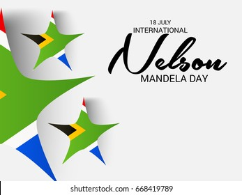 Vector illustration of a Banner for International Nelson Mandela Day.