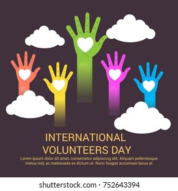 Vector illustration of a Banner for International Volunteers Day.
