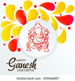 Vector illustration of a Banner of Lord Ganesh for Ganpati Chaturthi.