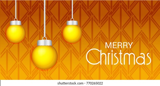 Vector illustration of a Banner for Merry Christmas.