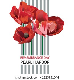 Vector illustration of a Banner for Pearl Harbor Remembrance Day.
