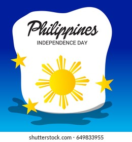 Vector illustration of a Banner for Philippines Independence Day.