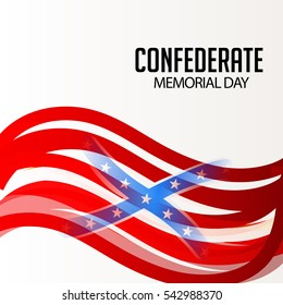 Vector illustration of a Banner or Poster for Confederate Memorial Day.