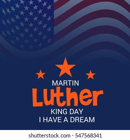 Vector illustration of a Banner or Poster for Martin Luther King Day.
