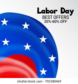 Vector illustration of a Banner for USA Labor Day.