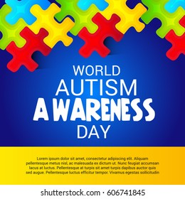 Vector illustration of a Banner for World Autism Awareness Day.