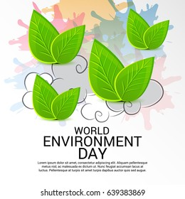 Vector illustration of a Banner for World Environment Day.