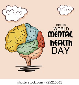 Vector illustration of a Banner for World Mental Health Day.