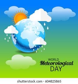 Vector illustration of a Banner for World Meteorological Day.