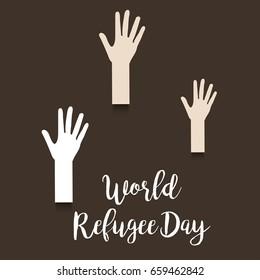 Vector illustration of a Banner for World Refugee Day.