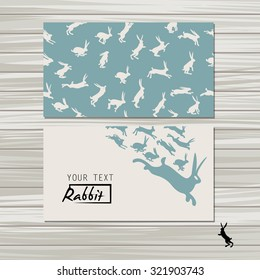 Vector illustration, banners with rabbits and pattern with rabbits .Banners.