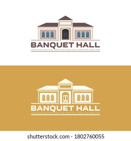 Vector illustration of Banquet hall icons