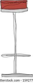 Vector illustration of a bar stool