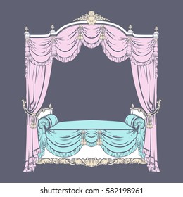 Baldachin Le baroque furniture vector stock vectors images vector