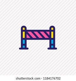 Vector illustration of barrier icon colored line. Beautiful architecture element also can be used as roadblock icon element.