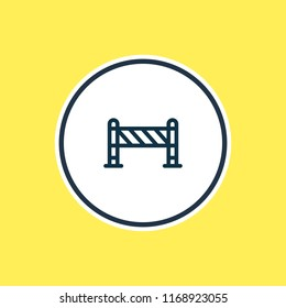 Vector illustration of barrier icon line. Beautiful industry element also can be used as roadblock icon element.