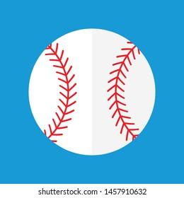 Vector illustration of a baseball.