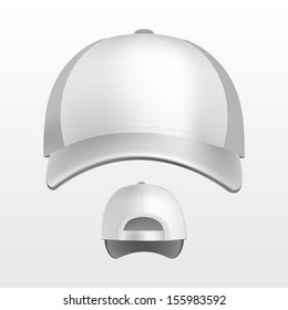 Vector Illustration of Baseball Cap Isolated on White Background