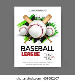 Vector illustration of Baseball game  sports posters design.