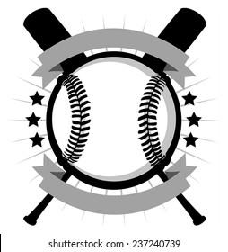 Vector illustration of baseball logo.