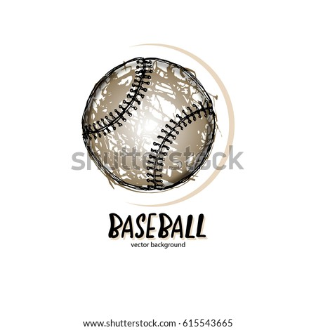 Vector Illustration Baseball Logo Symbol Abstract Stock Vector