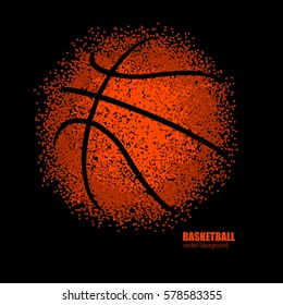 Vector illustration of basketball. Abstract ball. Design for sports.