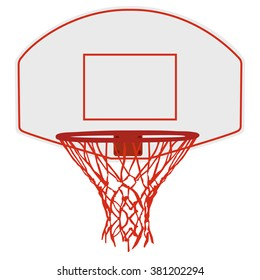 Vector illustration basketball basket, basketball hoop, basketball net. Basketball icon