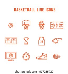 Vector Illustration of Basketball Icons