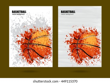 vector illustration Basketball, Basketball sports posters design, grunge design