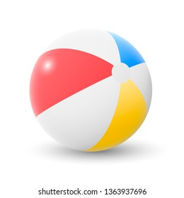 Vector illustration of a beach ball. Isolated on white background.
